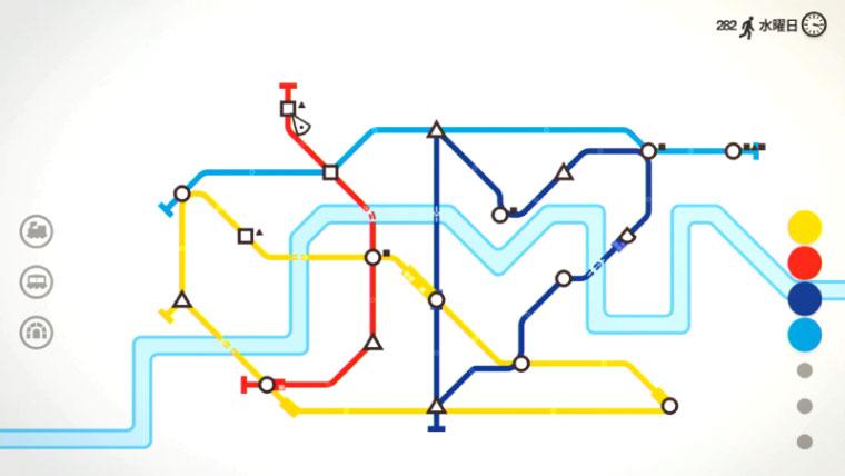 【スイッチ】地下鉄パズルゲーム『Mini Metro』は単純だけど気づけば遊びたくなるスルメゲー